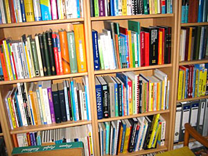 Bookshelves full of books!
